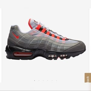 Brand New Grey and Red Neon Air Max 95s